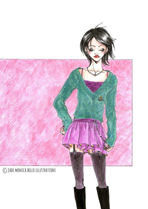 Nana Osaki - Nana, ai yazawa, fanart, illustration, manga, japan