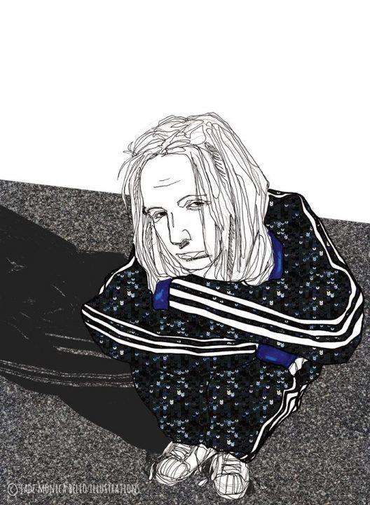 Jonathan Davis, Korn, music, adidas, fashion illustration