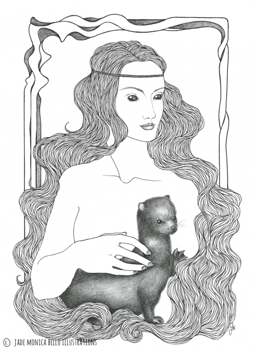 Nymph with the Mink | Jade Monica Bello