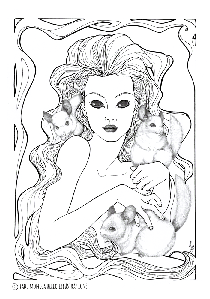 Nymph with the Chinchillas | Jade Monica Bello