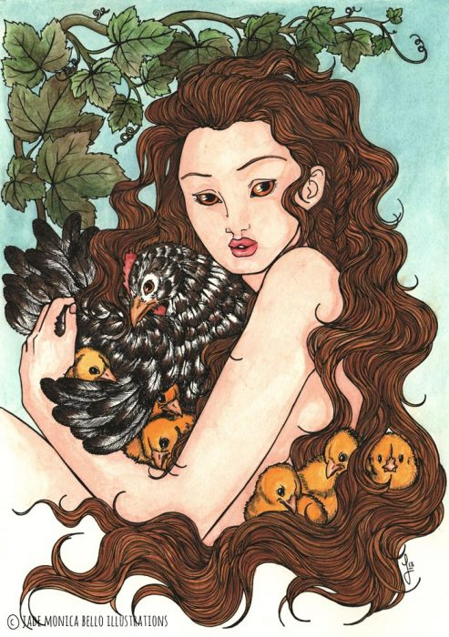 Chicks and Hen Nymph - colors | Jade Monica Bello