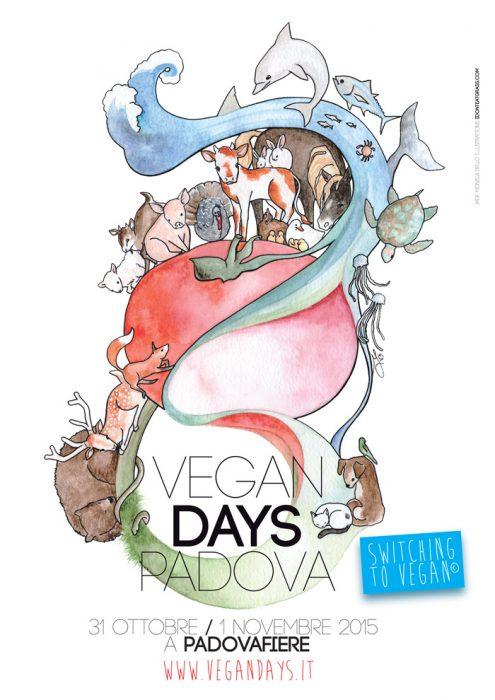 Vegan Days 2015 - manifesto, friends, animals, children illustration, vegan, vegan art, animal rights