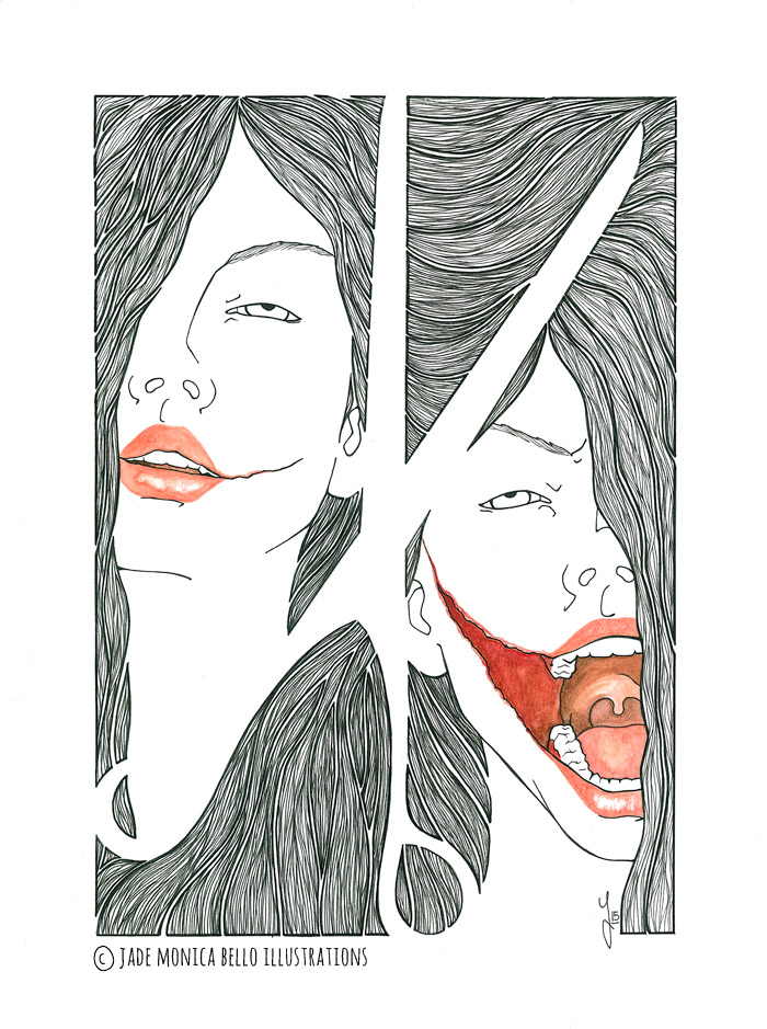 Kuchisake Onna, fanart, illustration, movie, japan, horror