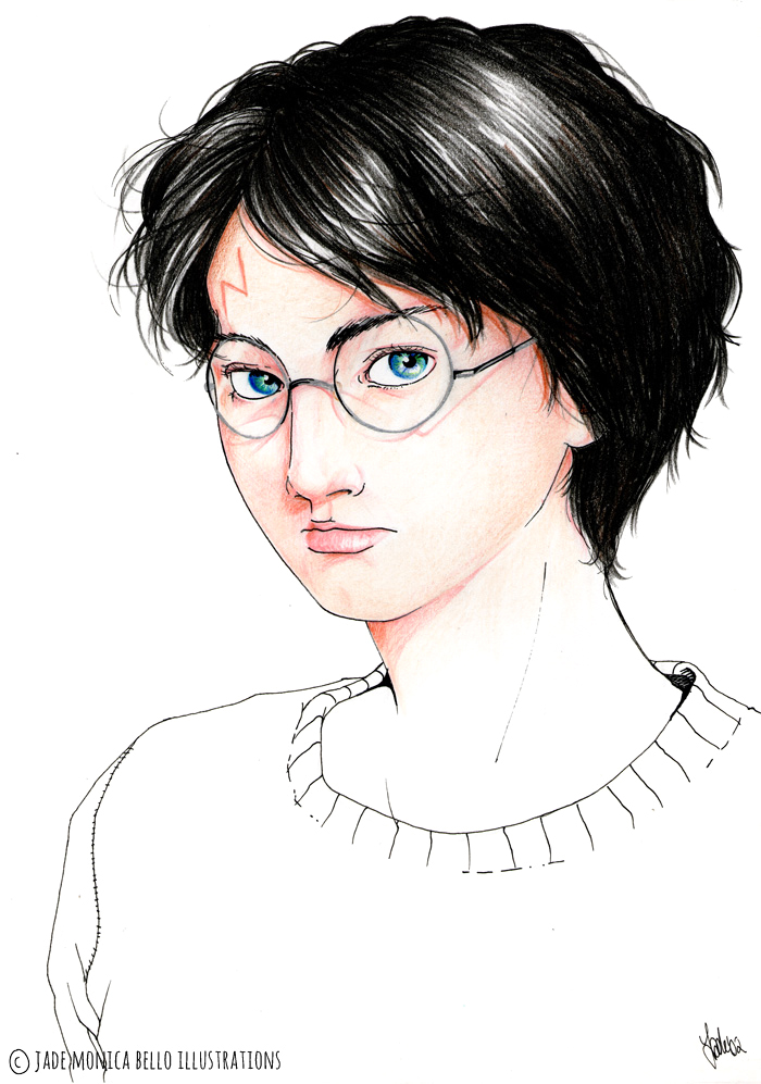 Harry Potter, j.k.rowling, fanart, illustration