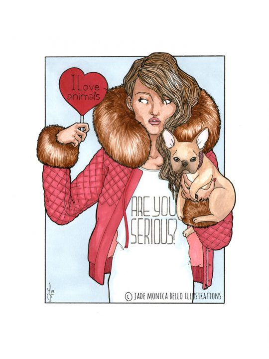 I love Animals, animals, vegan, vegan art, animal rights, speciesism, fashion, fur